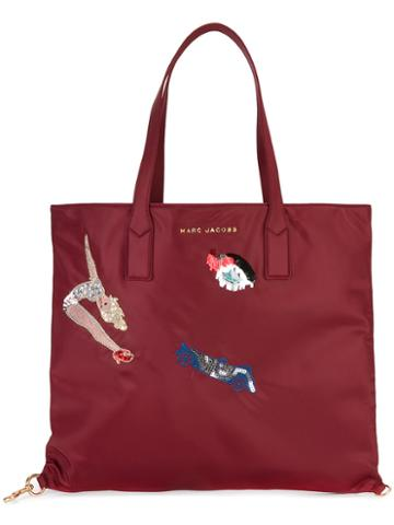 Marc Jacobs Vintage Collage Wingman Tote, Women's, Red, Polyester