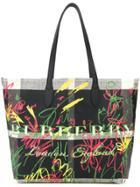 Burberry Large Reversible Doodle Tote Bag - Black