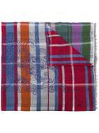 Etro Plaid Paisley Print Scarf - Multicolour