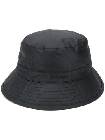 Barbour Stitch Detail Bucket Hat - Black