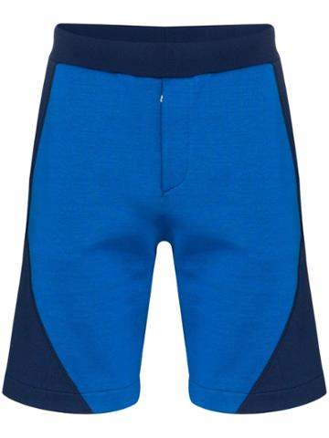 Alexander Mcqueen Panelled Logo Print Track Shorts - Blue