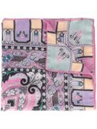Etro Abstract Print Scarf, Women's, Wool/silk