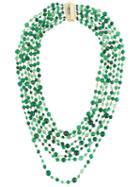 Rosantica Multiple Layers Long Necklace, Women's, Size: P, Green