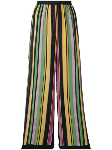 A.n.g.e.l.o. Vintage Cult 1960's Striped Trousers - Black