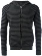 Roberto Collina Striped Hoodie - Green