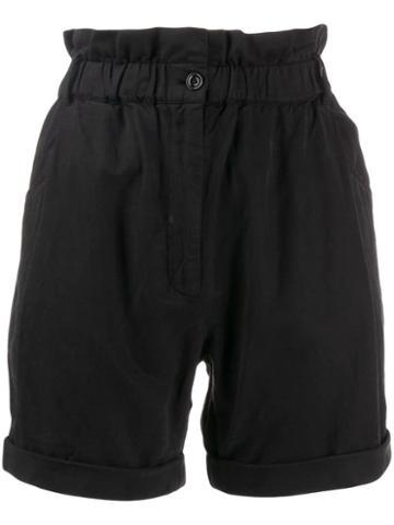 Frame Harem Short Shorts - Black
