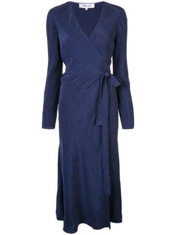Dvf Diane Von Furstenberg Wrap Midi Dress - Blue