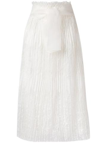 Ermanno Scervino - High-waisted Lace Skirt - Women - Silk/ramie/polyamide/viscose - 42, White, Silk/ramie/polyamide/viscose