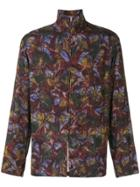 Lemaire Zip-up Floral Print Jacket - Red