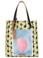 Marni - Printed Shopper Tote - Women - Leather/pvc - One Size, Women's, Yellow, Leather/pvc