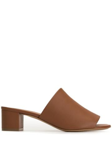 Mansur Gavriel Heeled Mules - Brown