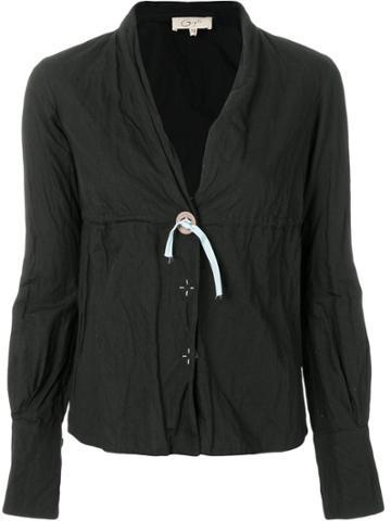 Romeo Gigli Vintage V-neck Shirt - Black