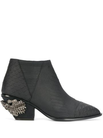 Giuseppe Zanotti Kevan Alligator Ankle Boots - Black