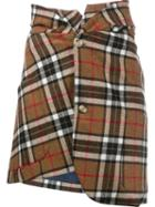 Jacquemus Plaid Asymmetric Skirt