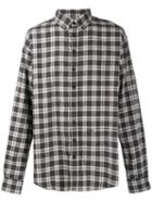 Dsquared2 Dropped Military Checked Shirt - Grey