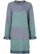 Love Moschino Patterned Shift Day Dress - Blue