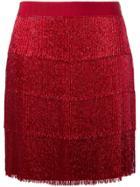 Alberta Ferretti Beaded Layered Skirt