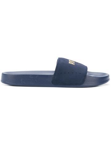 Puma Logo Slider Sandals - Blue