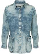 Roar Washed Denim Jacket - Blue