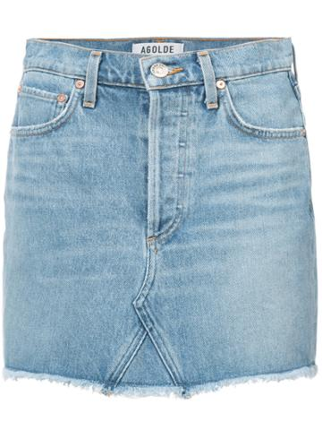 Agolde Denim Fitted Skirt - Blue