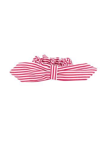 Mariuccia Milano Kids Teen Striped Headband - White