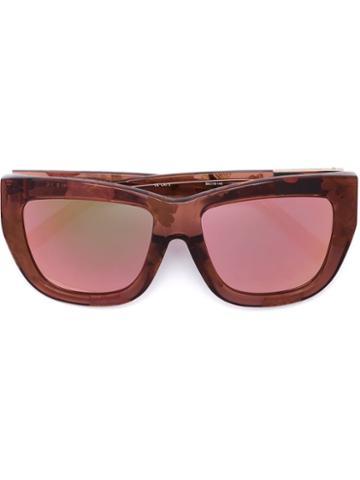3.1 Phillip Lim - Linda Farrow X 3.1 Phillip Lim 'c5' Sunglasses - Women - Acetate - One Size, Pink/purple, Acetate