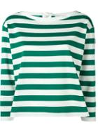 Moncler Cropped Striped Sweatshirt
