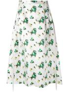 Toga Flower Print A-line Skirt
