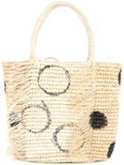 Sensi Studio - Polka Dots Tote Bag - Women - Straw - One Size, Brown, Straw