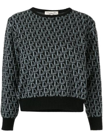 Christian Dior Pre-owned Trotter Pattern Jumper - Black