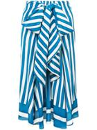 Tome Striped Skirt - Blue