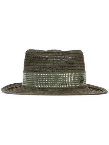 Maison Michel Straw Hat, Women's, Size: Medium, Green, Straw