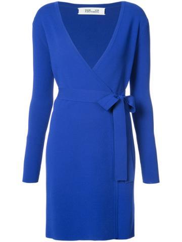 Dvf Diane Von Furstenberg Classic Wrap Dress - Blue