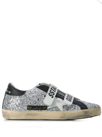 Golden Goose Deluxe Brand Strapped Superstar Sneakers - Metallic