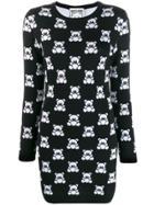 Moschino Teddy Print Jumper Dress - Black