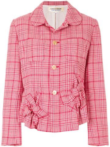 Comme Des Garçons Vintage Prince Of Wales Jacket - Red