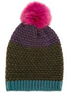 Etro Beanie Hat With Pom-pom - Multicolour