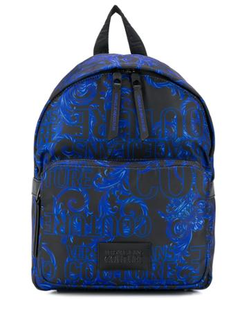 Versace Jeans Barocco Print Small Backpack - Black