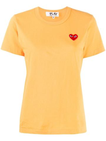 Comme Des Garçons Play Comme Des Garçons Play P1t211 Yellow Red Heart