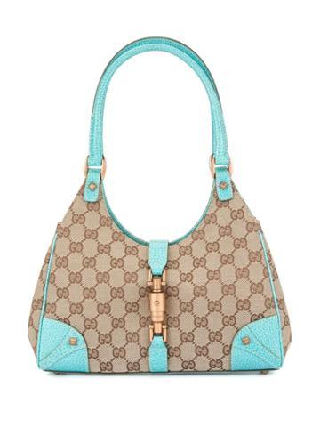 Gucci Vintage Newjackie Gg Pattern Handbag - Blue