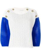 Agnona Open-knit Sweater - White