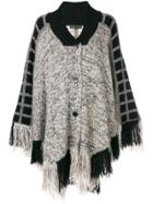 Etro Knitted Fringe Cape - Black