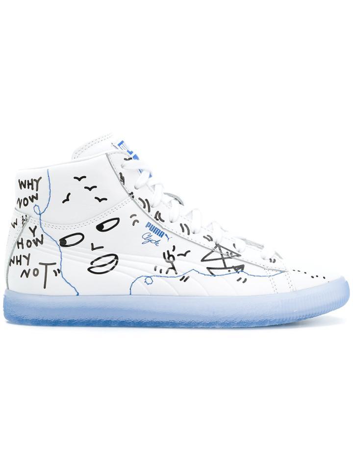 hot sale online 5cfd2 3d1ff Puma Puma X Shantell Martin Clyde Hi-top Sneakers - White ...