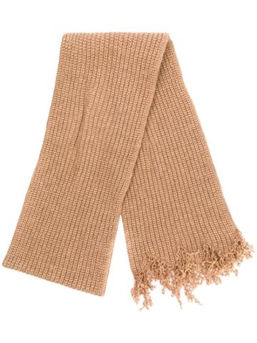 Marni Oversized Knitted Scarf - Neutrals