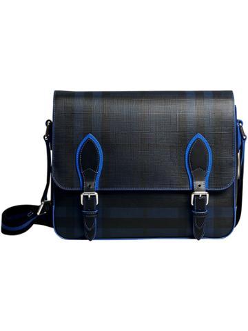 Burberry Medium London Check Messenger Bag - Black