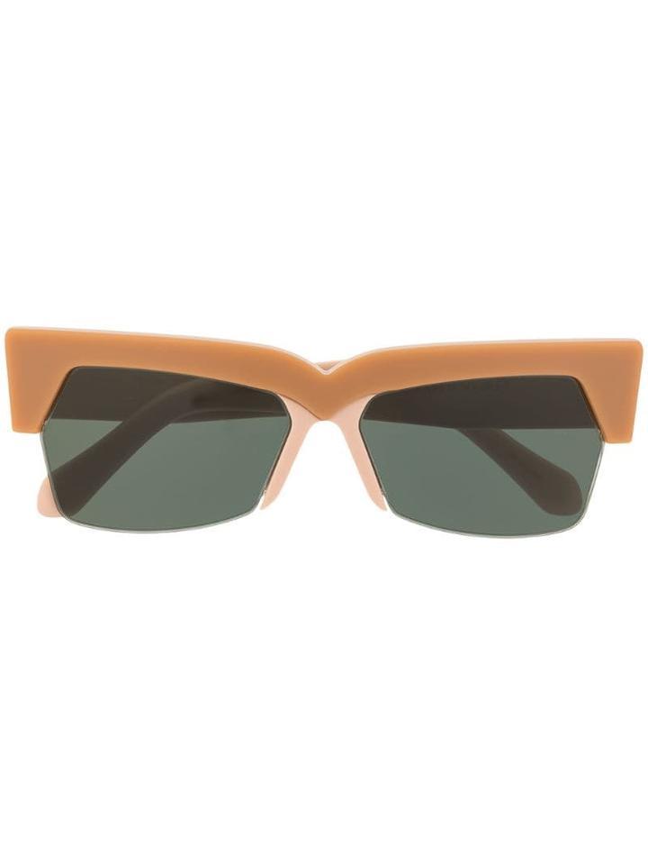 Karen Walker Furrow Sunglasses - Brown