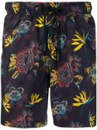 Etro Floral-print Swim Shorts - Purple