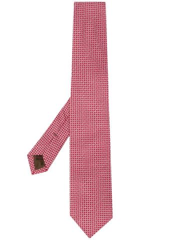 Church's Micro-pattern Tie - Red