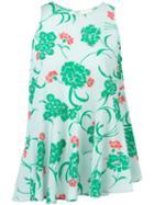 P.a.r.o.s.h. Floral Print Tank Top, Women's, Green, Silk/spandex/elastane