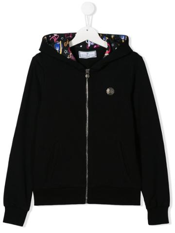 Philipp Plein Junior Plein Addict Sweat Jacket - Black